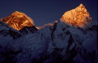 夕焼けのエベレスト